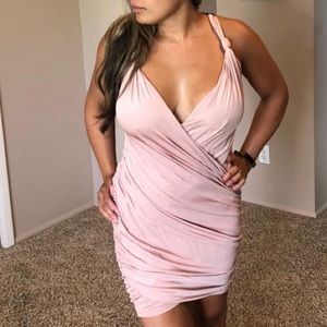 Light pink fitted dress